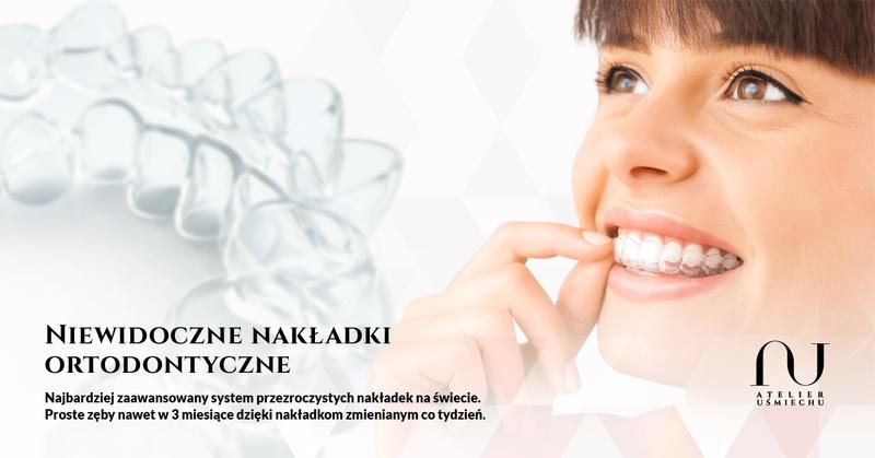 Ortodonta Mokotów, Ursynów, aparaty ortodontyczne Warszawa, niewidoczne aparaty ortodontyczne Atelier Uśmiechu