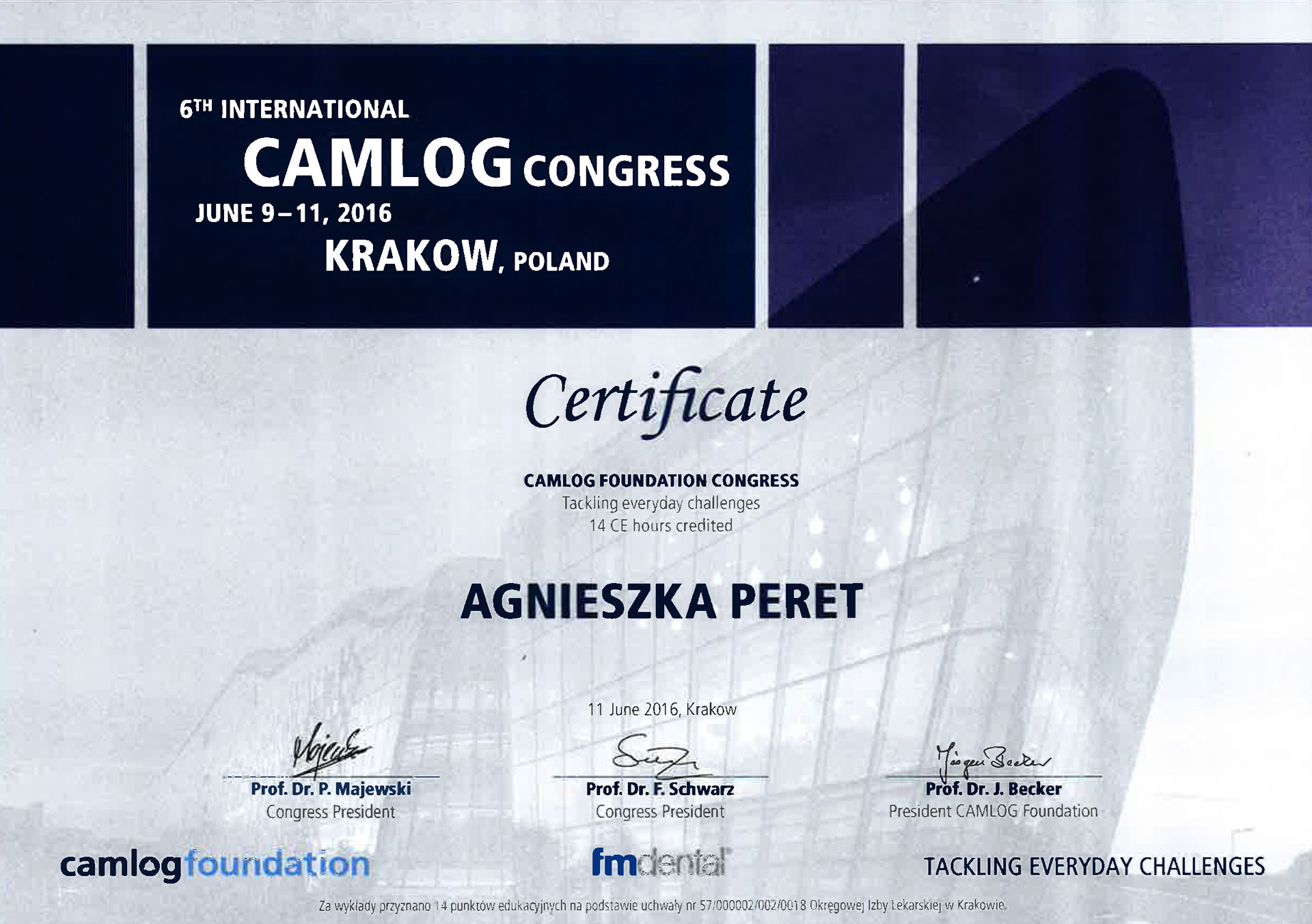6th International CAMLOG Congress - Agnieszka Peret