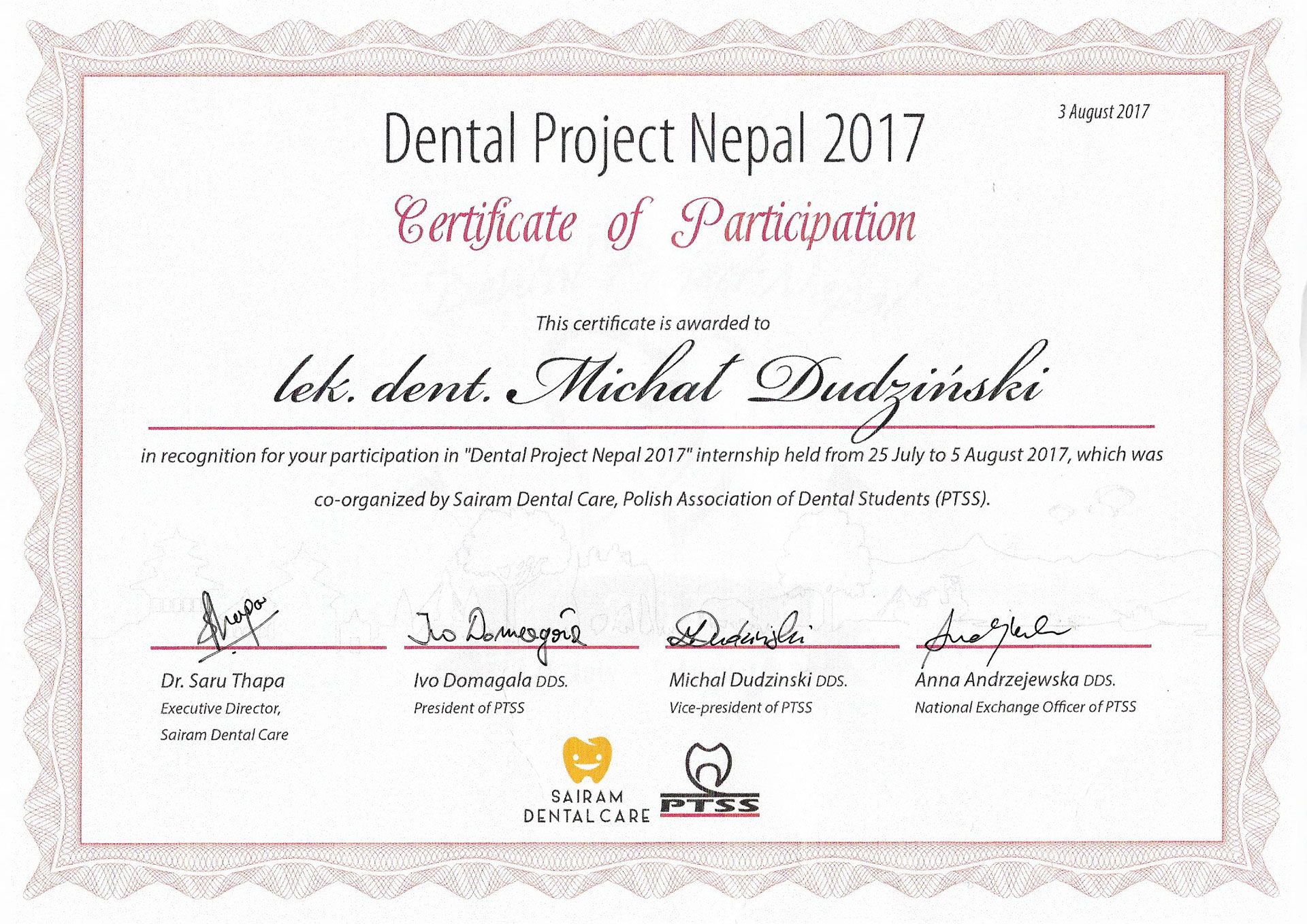 Dental Project Nepal 2017