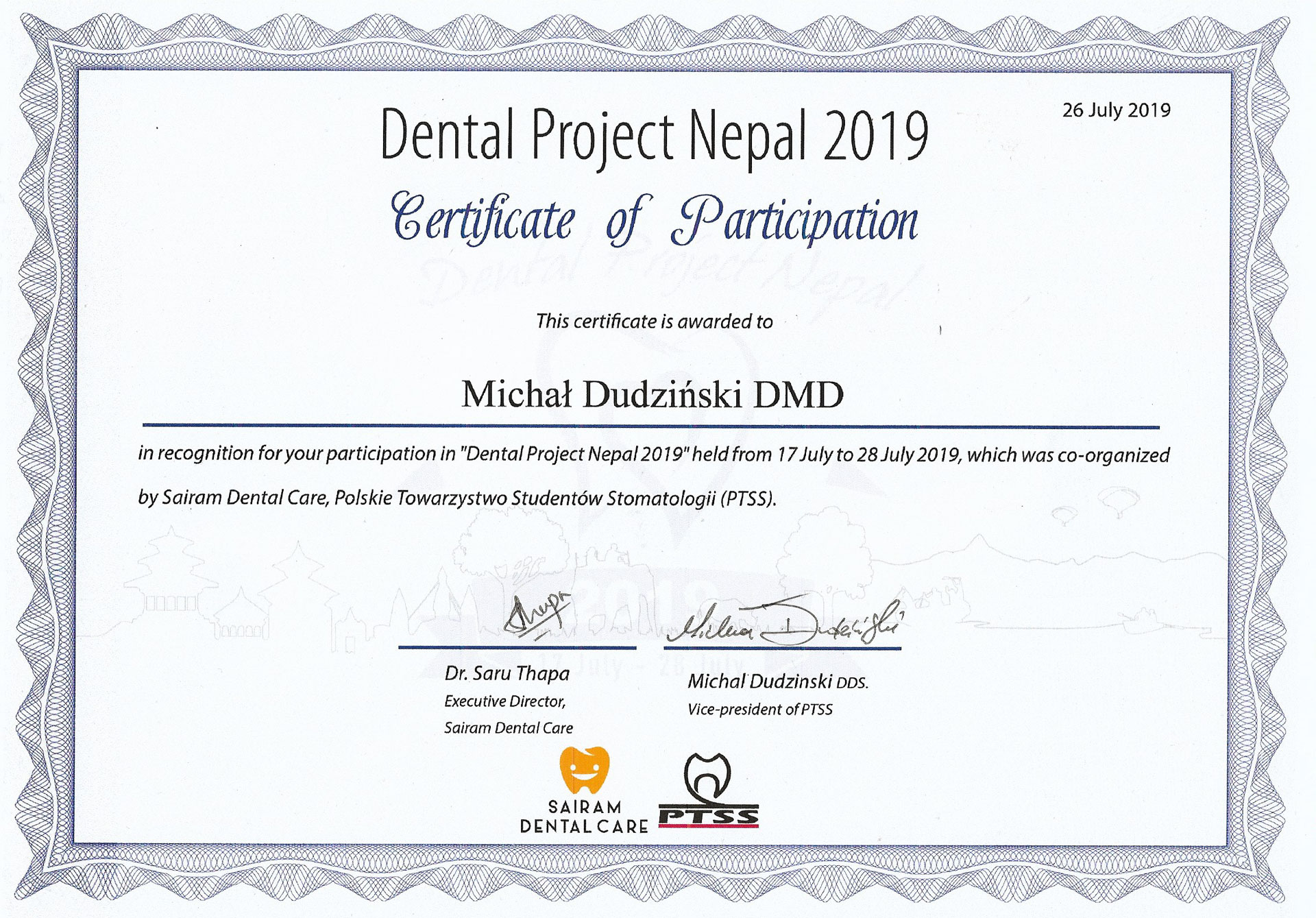 Dental Project Nepal 2019